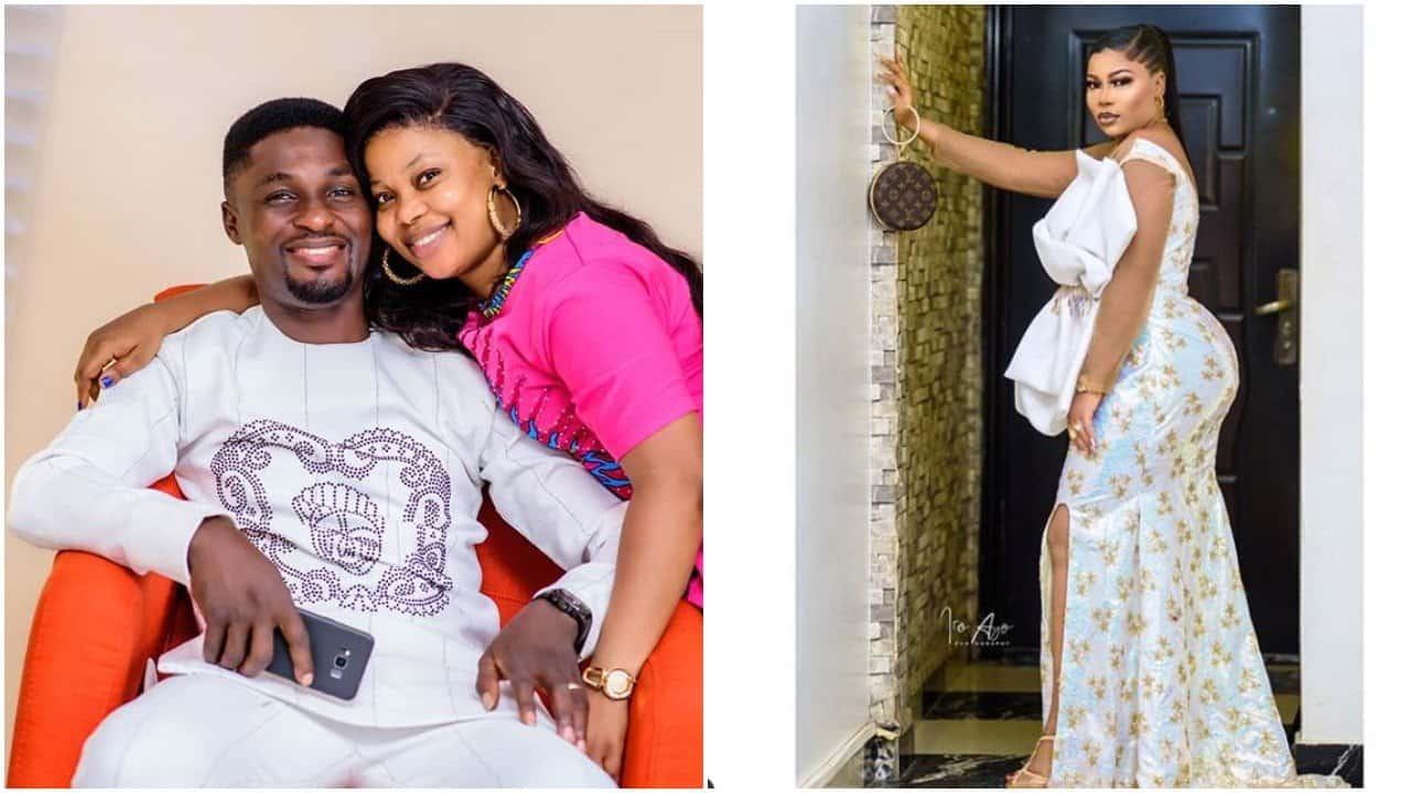 Photo of Adeniyi Johnson caught photoshopping Seyi Edun's bum in birthday photo