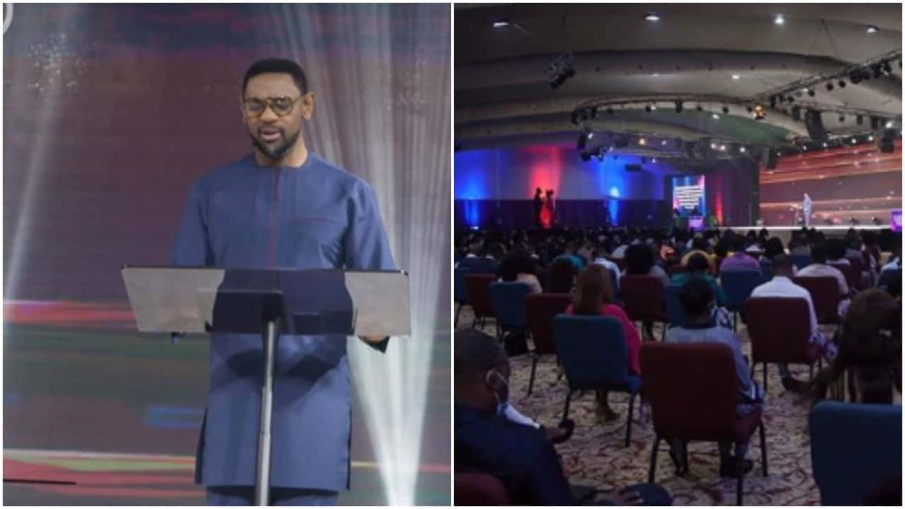 Photo of Covid-19: COZA members storm Pastor Biodun Fatoyinbo's first church service (photos)