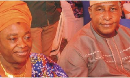Oga Bello and wife
