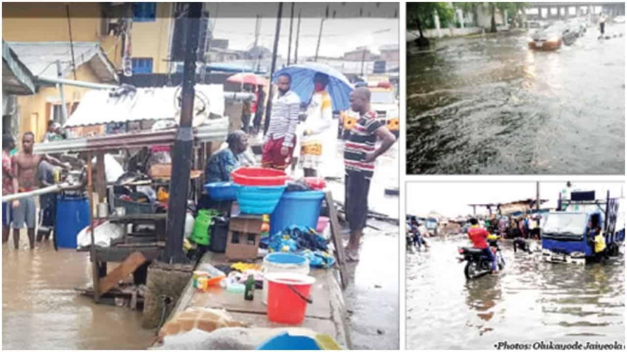 Lagos flood destroys homes