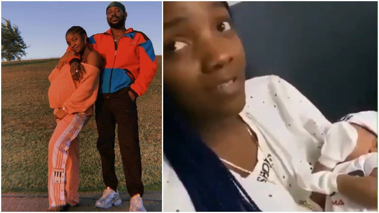 Photo of Watch rare video of Simi carrying and fondling her baby, Adejare