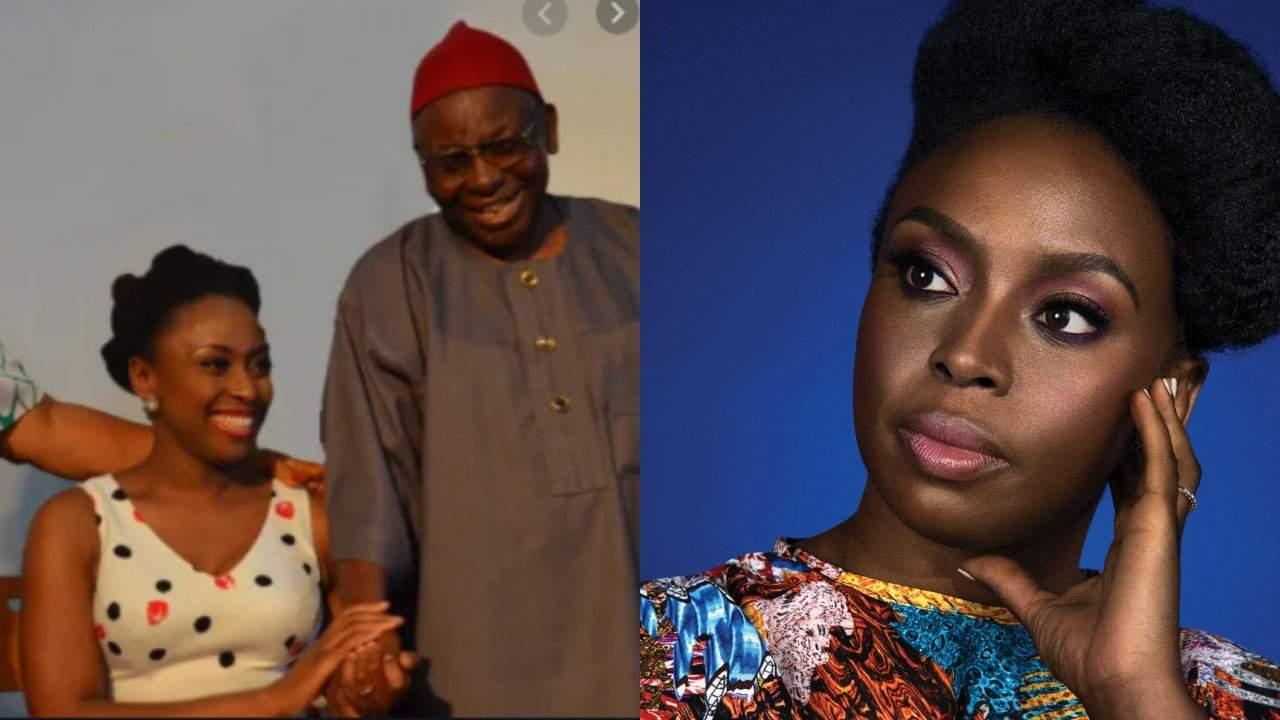 Photo of Chimamanda Adichie's father, Prof. James Nwoye Adichie is dead