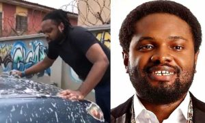 Nigerians react after Cobhams was seen washing his car