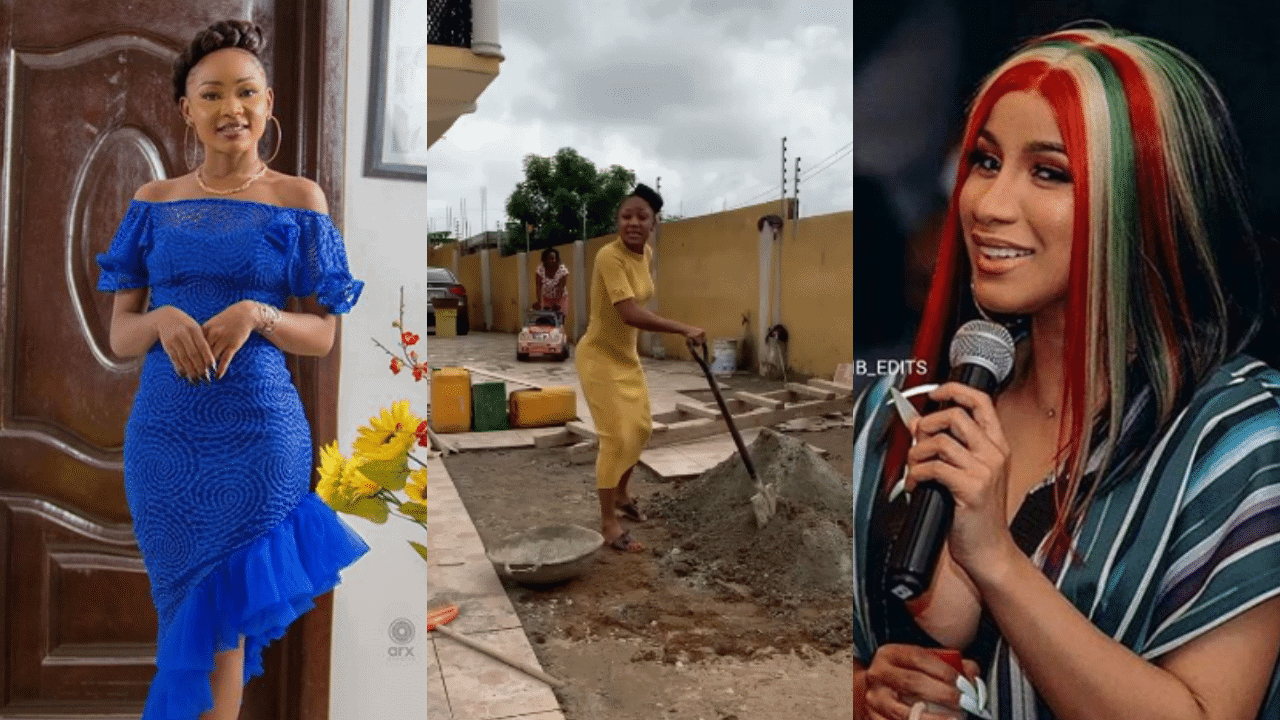 "Photo of ""I will disgrace myself before you disgrace me"", Cardi B's 'twin sister', Akuapem Poloo shows off her side hustle 