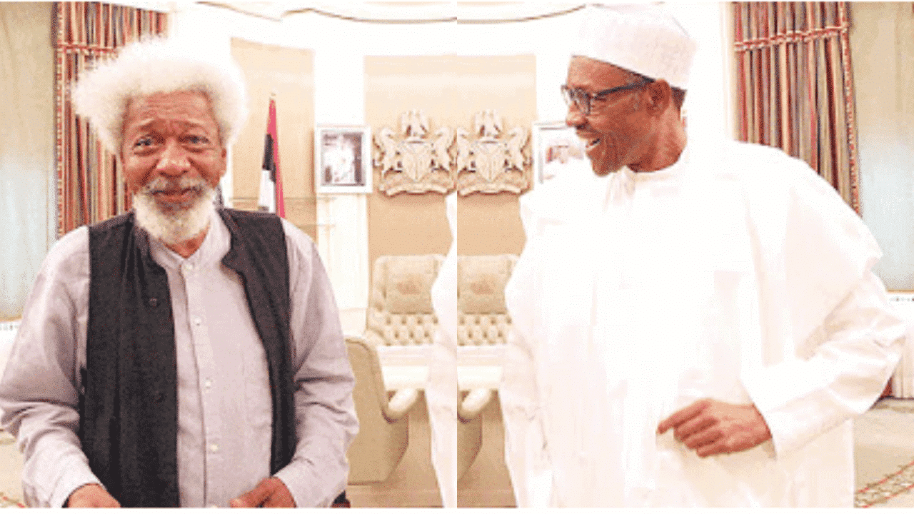 """Photo of """"President Buhari is NOT in charge"""", Wole Soyinka says"""