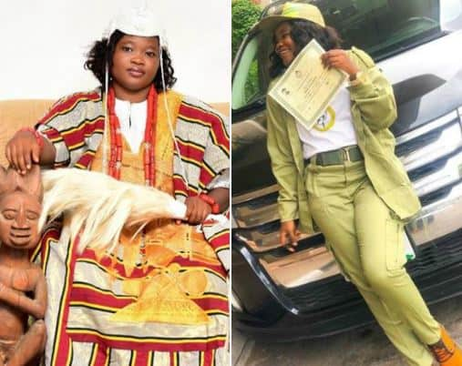 Photo of See the first seating traditional female monarch  to attend NYSC camp