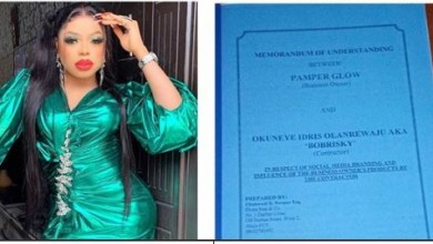 Photo of Popular brand 'drags' Bobrisky for breaching two million naira contract (photo)