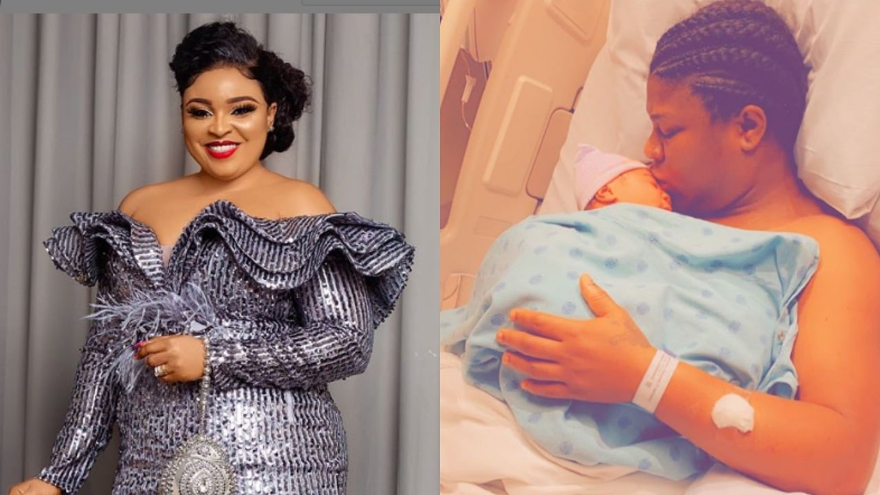 Photo of Mercy Aigbe, and other Nollywood stars congratulate Bimbo Afolayan as she announces the birth of her son