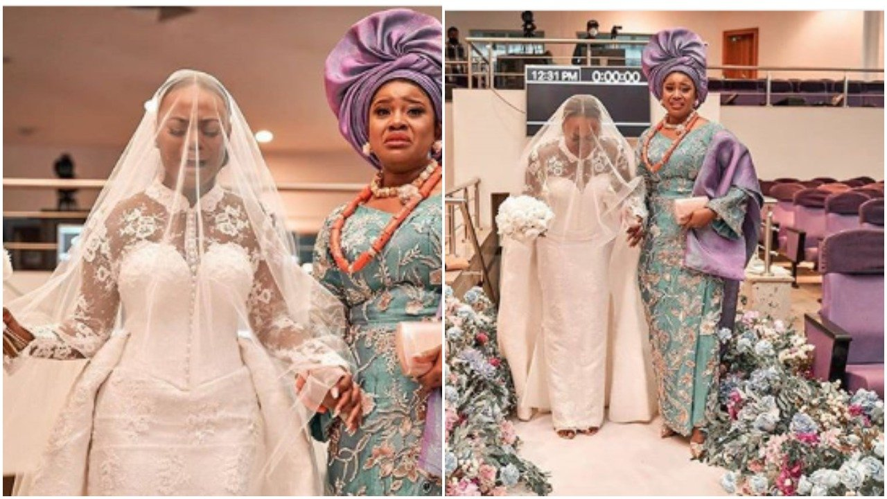 Photo of Covid-19: Bride's wedding entrance in RCCG makes guests cry, worship (photos, video)