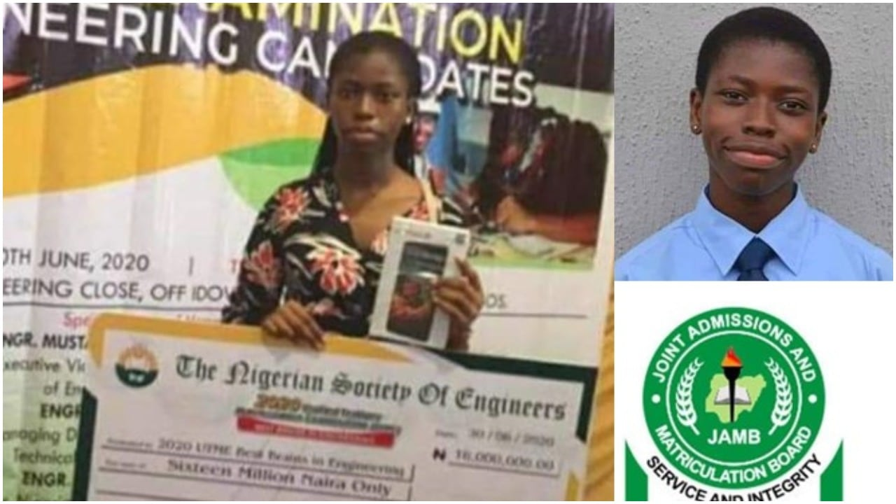 Photo of Student with highest JAMB score gets reward of N16 million from Nigerian Society of Engineers