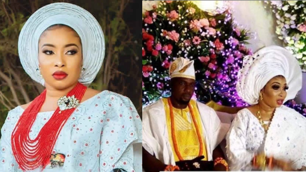 Photo of Newly wedded Lizzy Anjorin's husband, Lateef Lawal accused of dumping his 5 wives to marry her (photos, details)