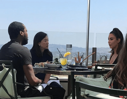 Photo of Picture of Kim Kardashian and Meek Mill at the hotel where they met as claimed by Kanye West
