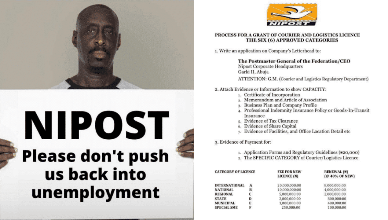 """Photo of """"Say no to NIPOST fee"""", Nigerians protest against FG's plan to charge logistic companies"""