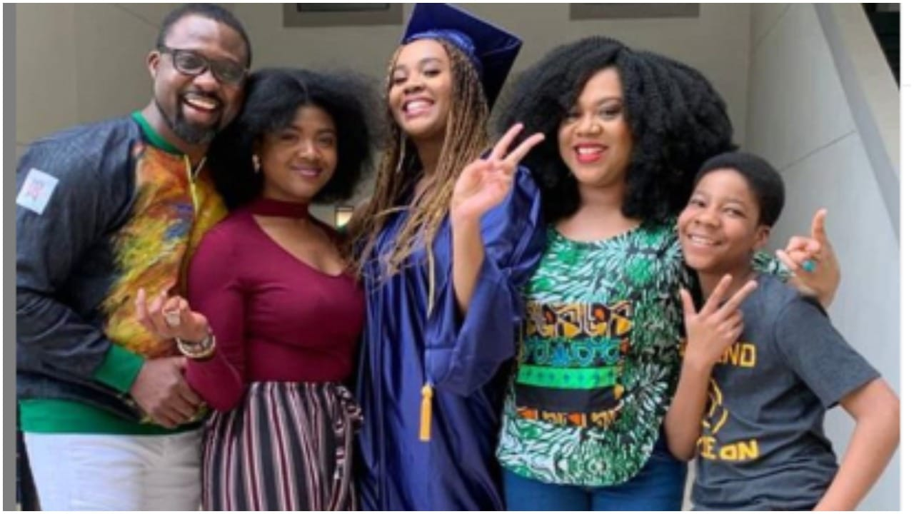 """Photo of """"Frame this picture"""" Fans tell Stella Damasus after releasing new family photo of her daughters and step son"""