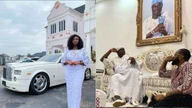 Photo of BBNaija couple, Bambam and Teddy brags about paying their god father, Ooni of Ife a visit | Pictures