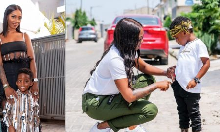 Tiwa Savage gifts son