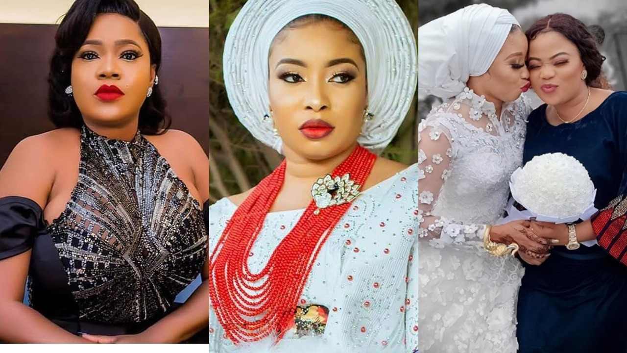Photo of Toyin Abraham refuses to congratulate Lizzy Anjorin unlike Mercy Aigbe, Faithia Williams and others