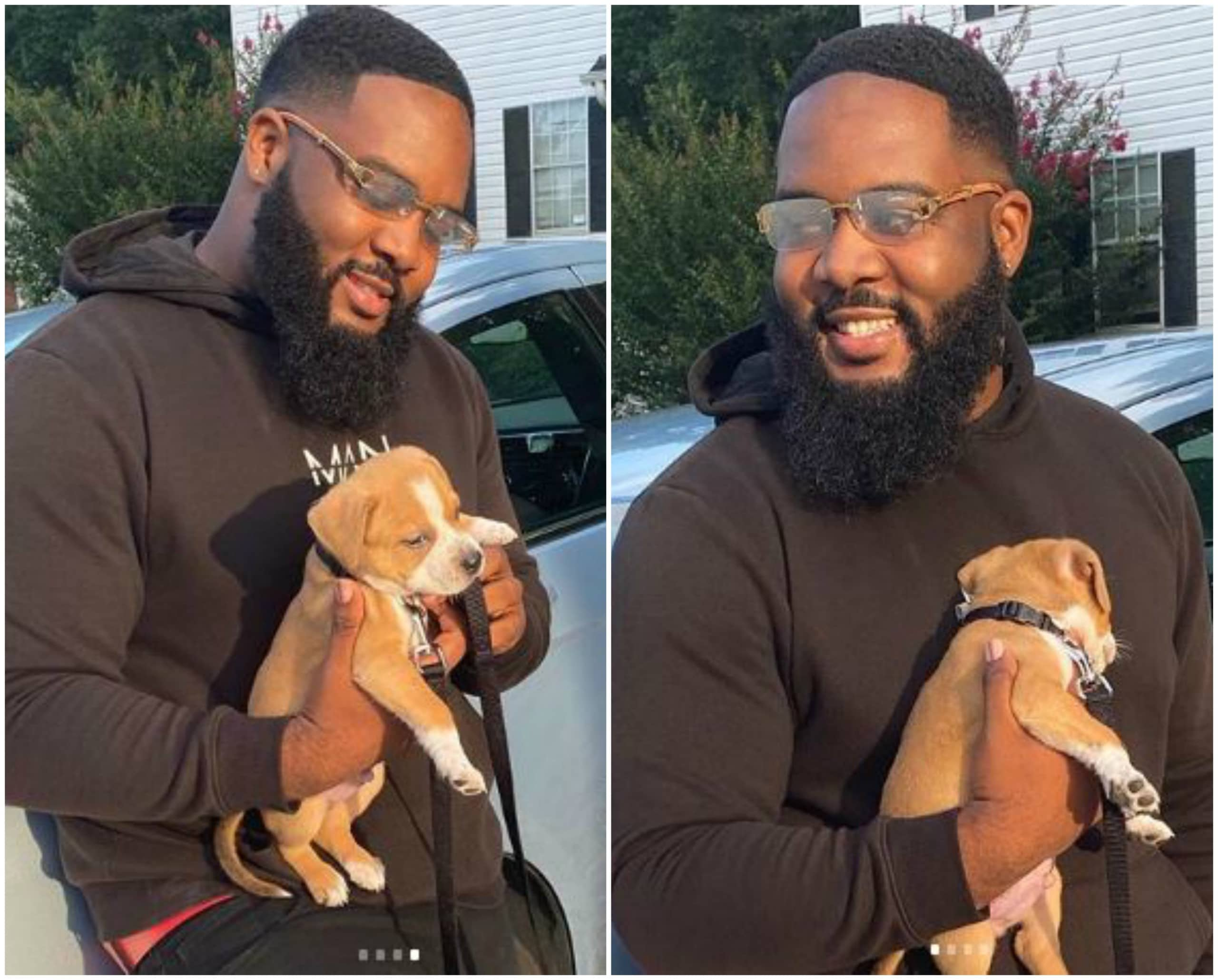 Photo of Nigerian man shows off his 'first son' named ogene (photos)