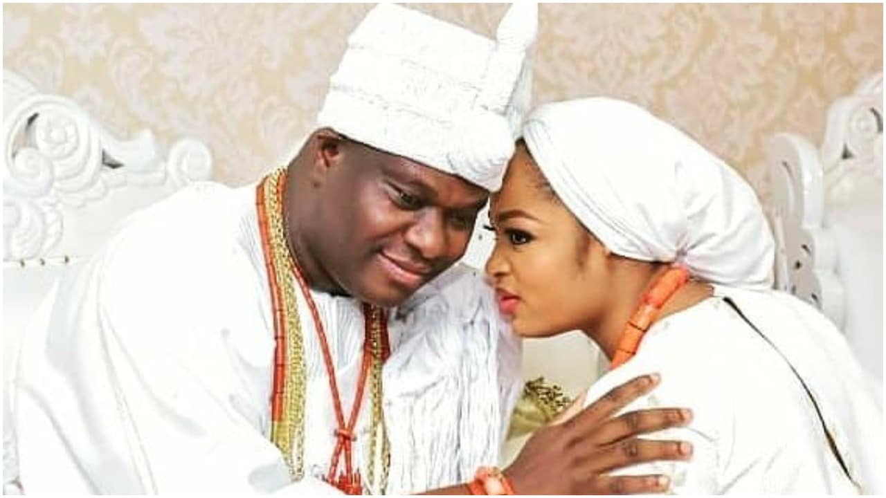 Photo of Ooni Of Ife indicates new Queen's pregnancy…see what he vows to name unborn son