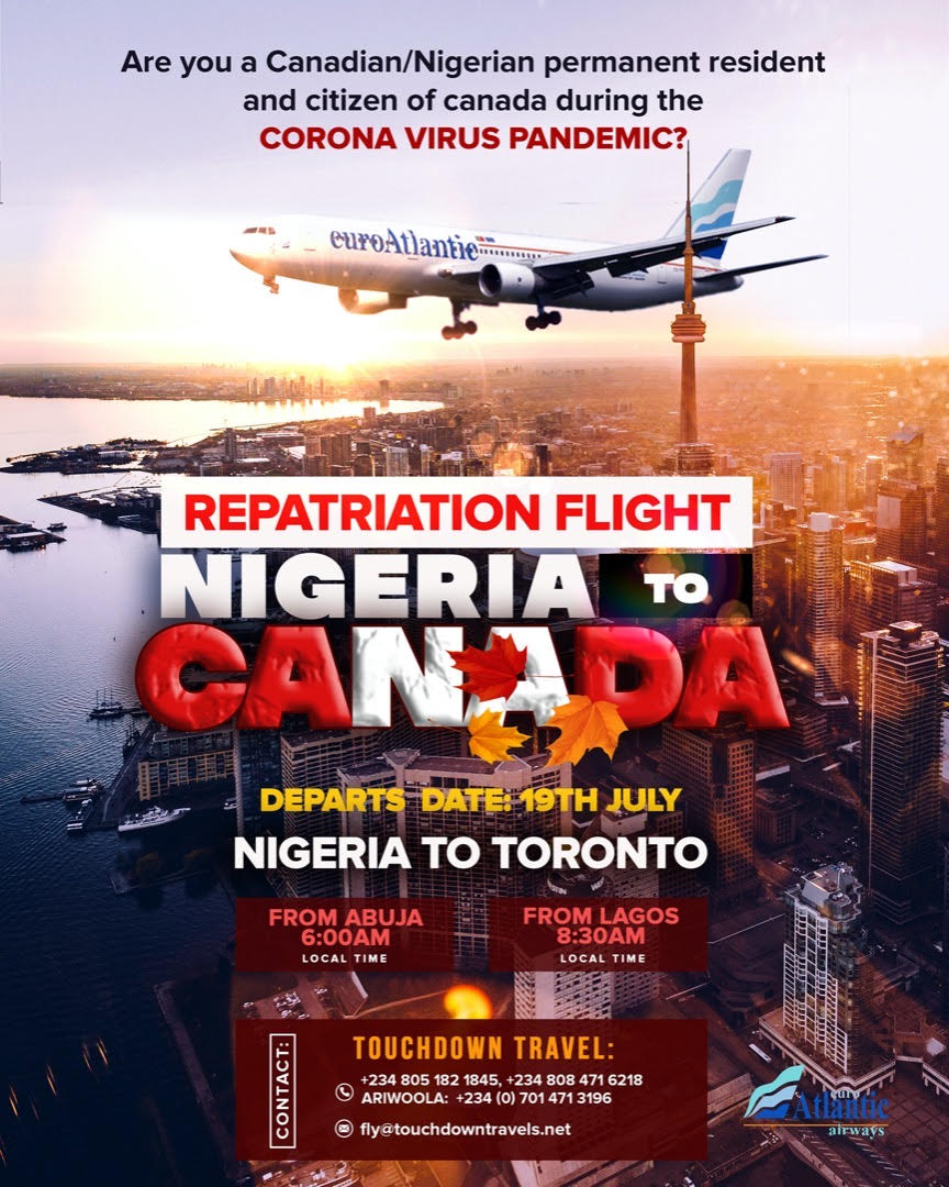 Photo of Evacuation: You Can Book Flight Tickets From Nigeria To Canada NOW!