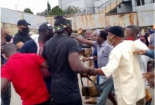 Photo of Pensioners cry in pain as hoodlums attack protest at government house (photos)