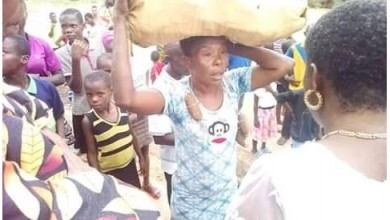 Photo of Igbo woman paraded after being caught stealing cassava in a farm (photos)