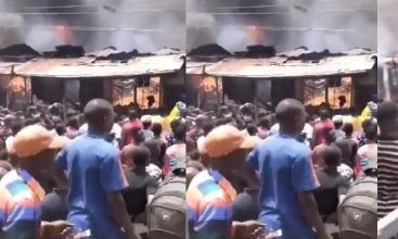 Photo of Properties worth millions destroyed as fire gut Lagos market (photo)