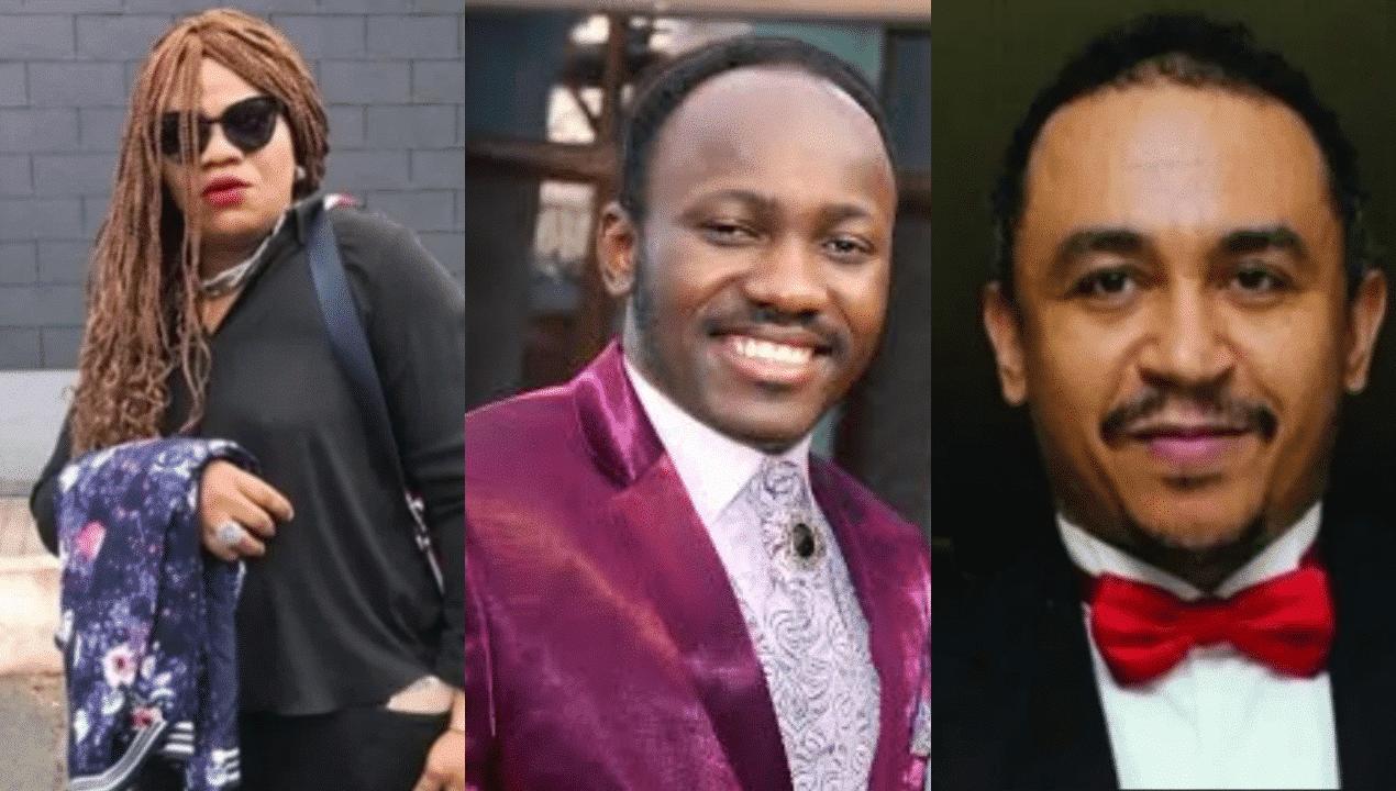 Apostle SUleiman, Stella Dimoko korkus and Daddy Freeze