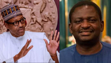 "Photo of Thunder fire you – Femi Adesina dragged for saying ""Nigerians will see Buhari's achievement if they calm down"""
