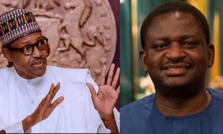 Buhari and Femi Adesina