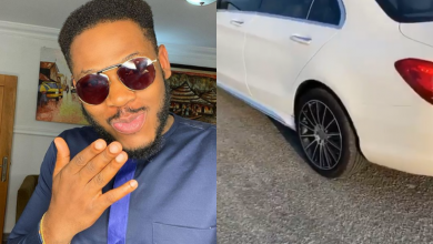 Photo of BBNaija's Frodd gets a brand new Benz 24hrs after a troll mocked him for not owning a car (Video)