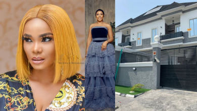 Photo of Iyabo Ojo celebrates actress, Omo Britico as she joins her as a mansion owner