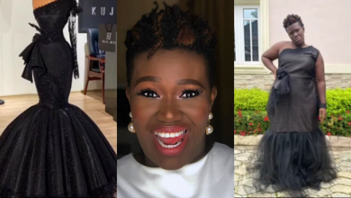 Photo of Comedienne Real Warri Pikin cries bitterly after supporting an up coming tailor who did this to her (Photos)