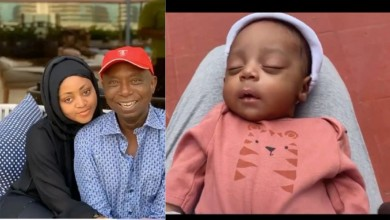 Photo of Nigerians argue on who Regina Daniels baby looks like between his father and mother | Pictures