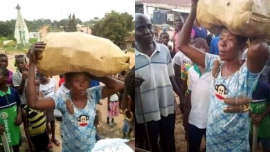 Photo of 'Fools with misplaced priorities' – Nigerians reacts after a woman was paraded and disgraced for stealing food