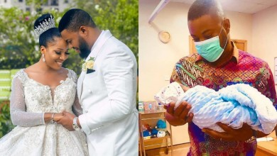 Photo of Linda Ikeji's sister, Sandra, delivers baby boy 7 months after her wedding