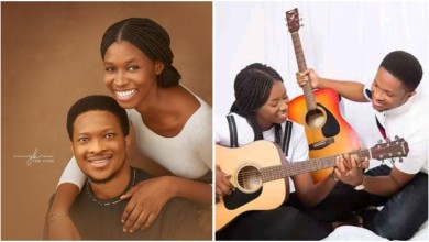 Photo of Mike Bamiloye's daughter, Darasimi and Lawrence Oyor release pre-wedding photos, video