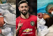 Photo of Manchester United midfielder, Bruno Fernandes welcomes second child