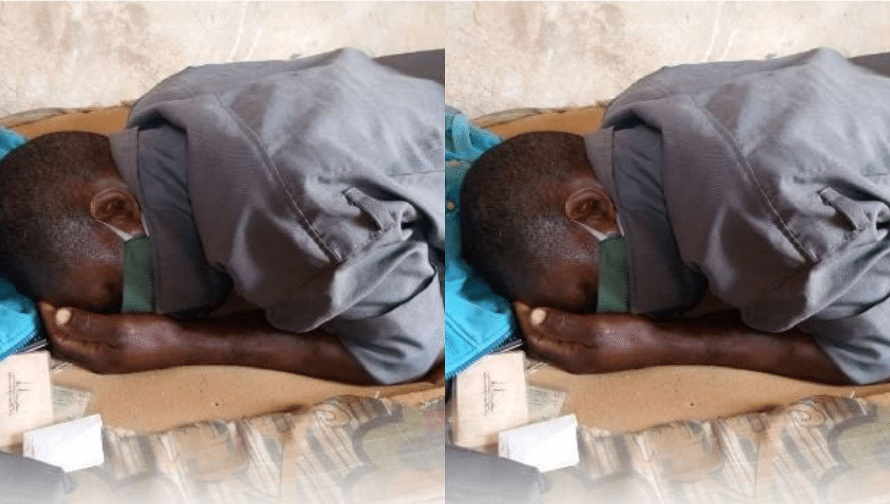 Tears flow as security man dies after reportedly sleeping with his face mask on