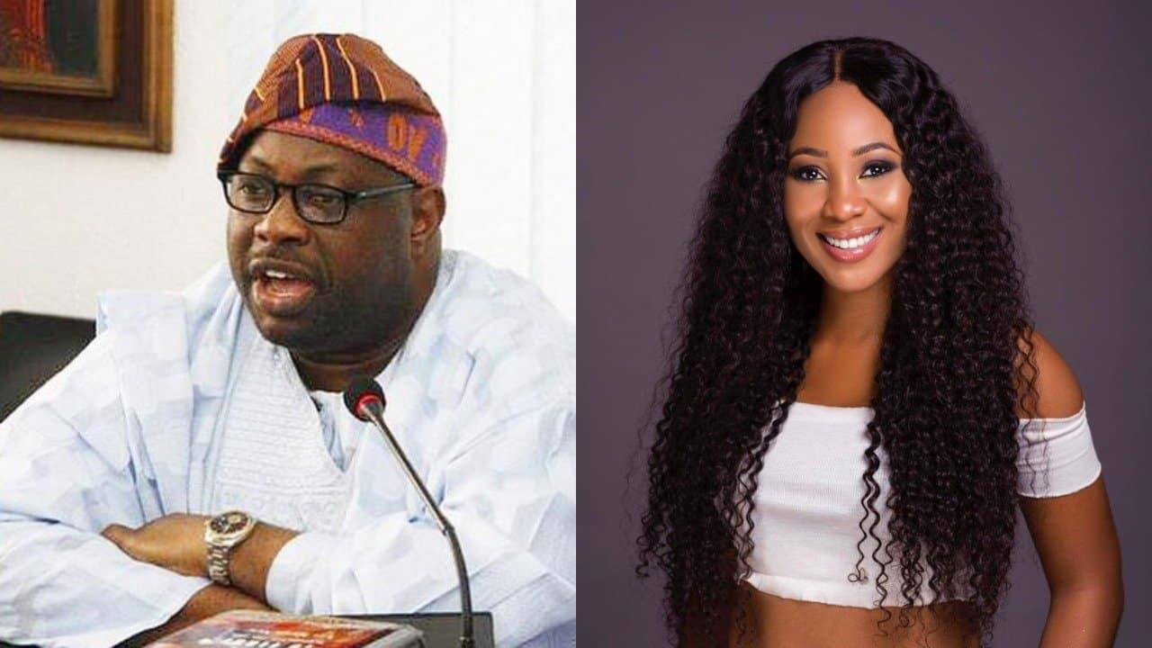 Dele Momodu and Erica