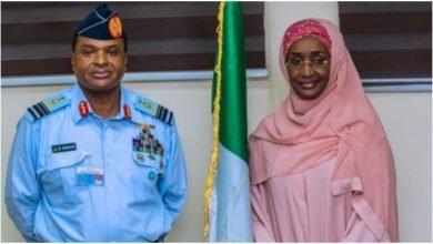 Photo of Chief of Air Staff Marries Humanitarian Affairs Minister Hajia Sadiya Farouq