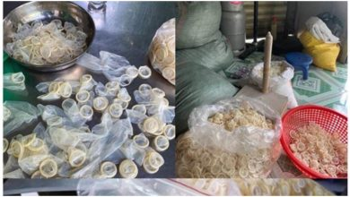 Photo of Police seize 324,000 used condoms being recycled and resold