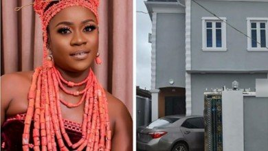 Photo of Actress, Olayinka Solomon joins the league of Iyabo ojo, Mercy Aigbe as she becomes a mansion owner in Lagos |Photos