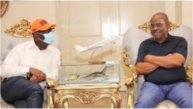 Photo of Obaseki reveals how God used Wike for his re-election victory