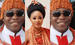 Oba of benin and wife