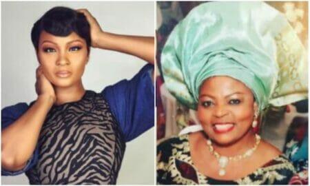 Osas Ighodaro and mother