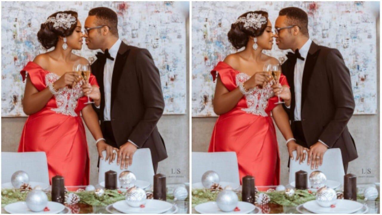 Omoni Oboli and husband
