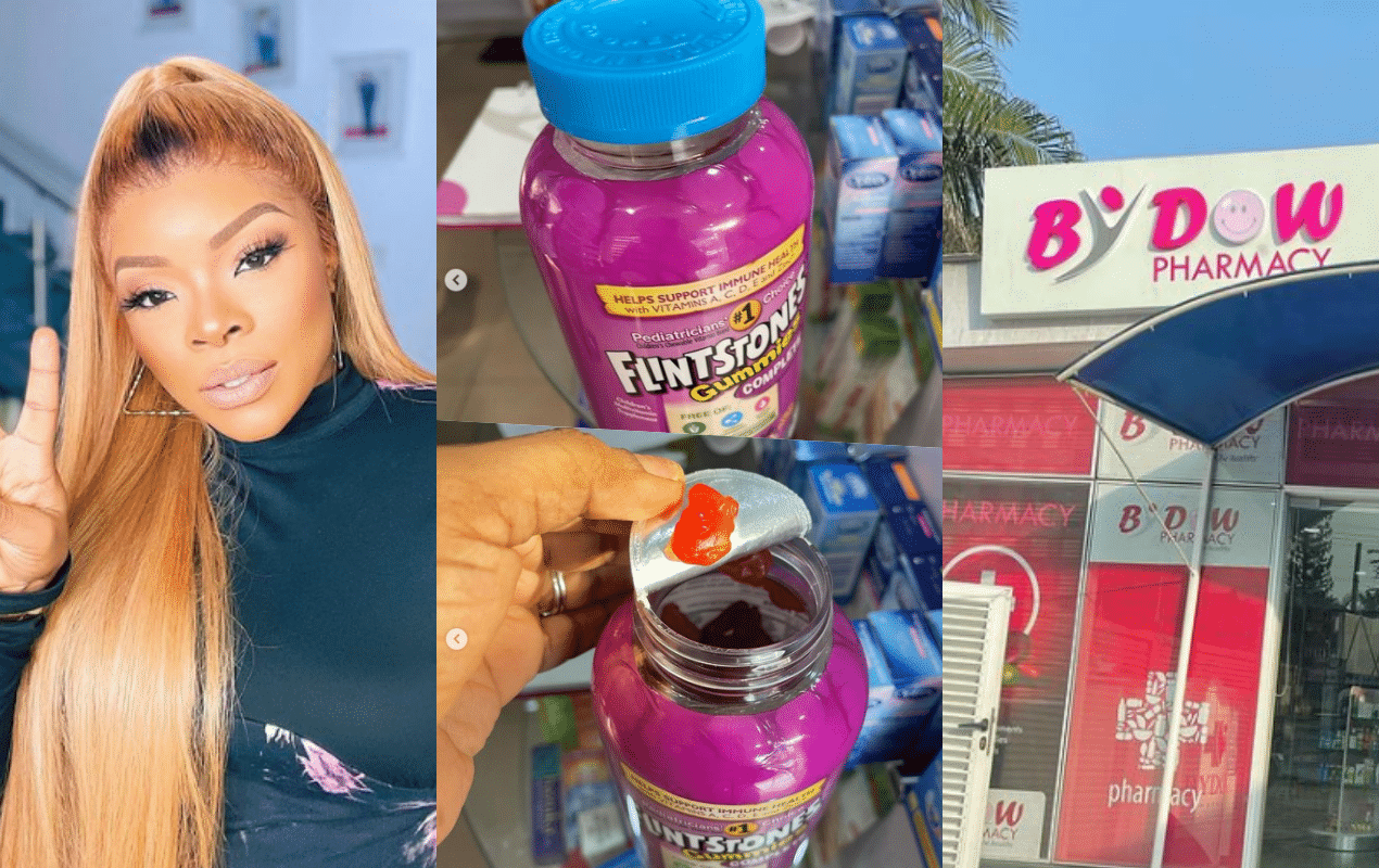 Laura Ikeji calls out by dow pharmacy