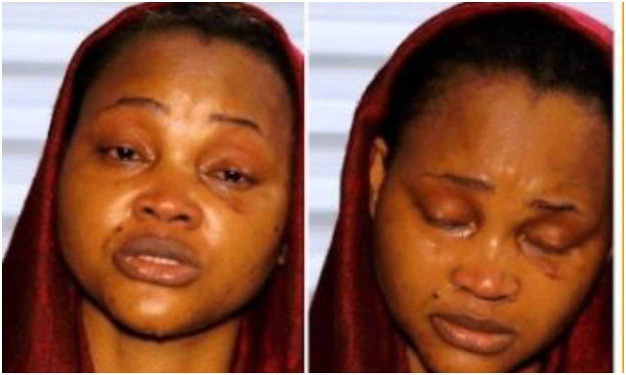 Mercy Aigbe in tears
