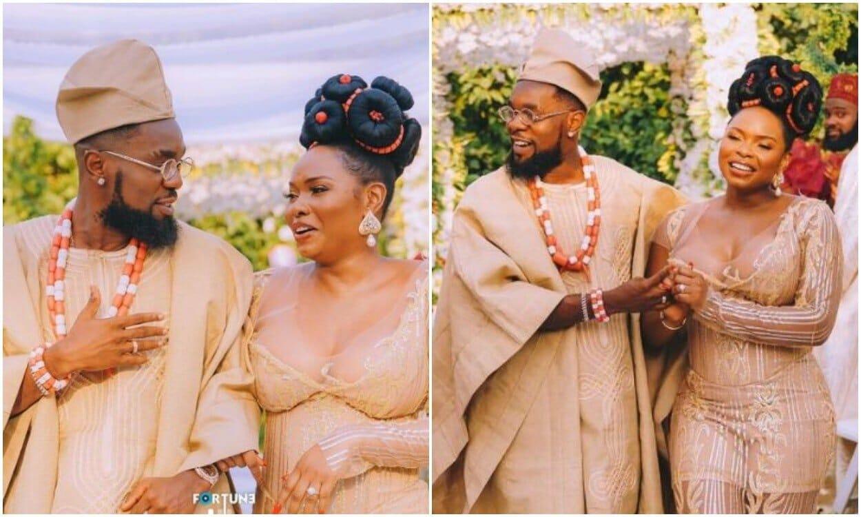 Patoranking weds Yemi Alade